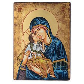 Icono 40x30 cm Virgen con niño Rumanía s1