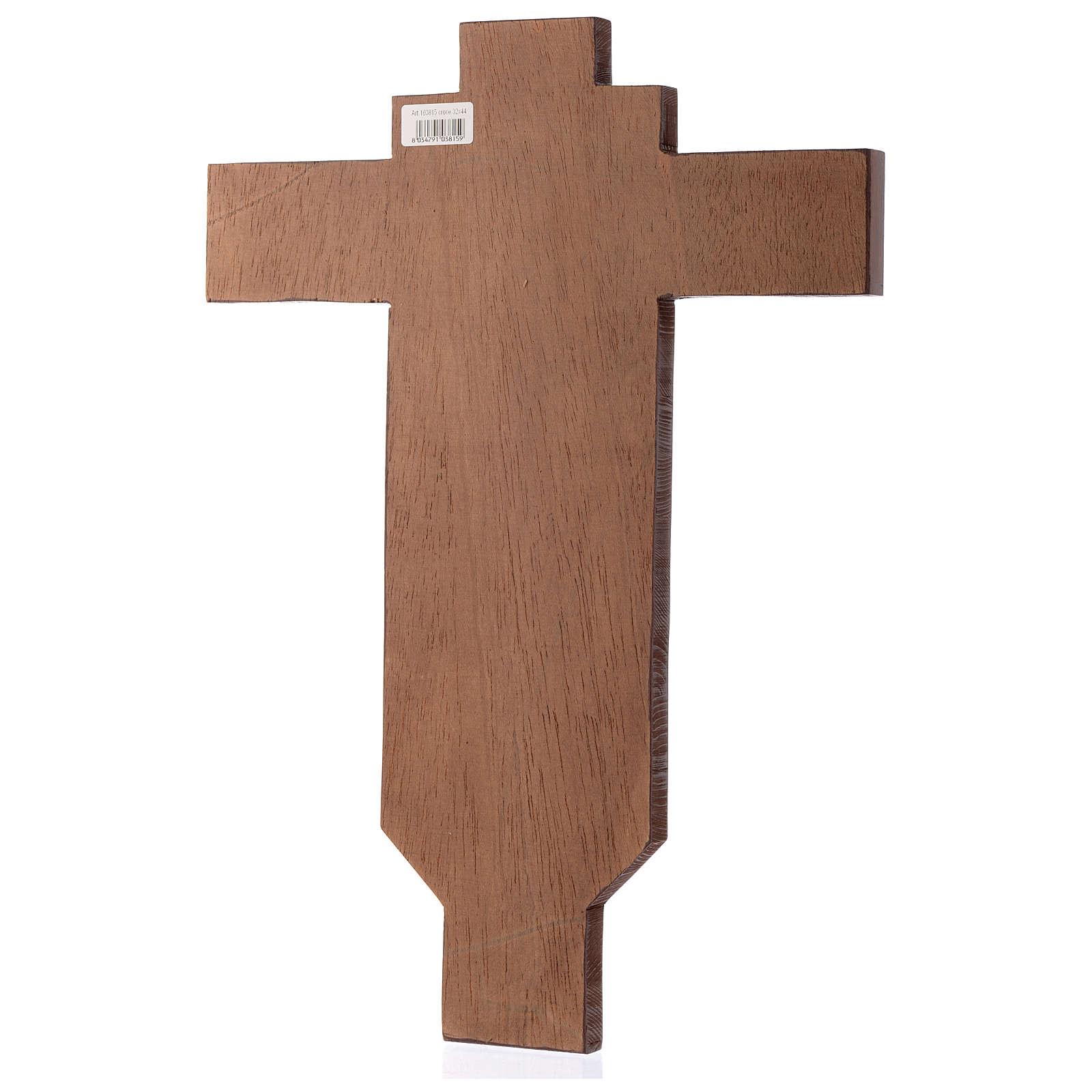 Croce icona dipinta a mano su legno 45x30 cm 4