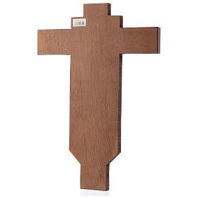 Cruz ícone pintado à mão sobre madeira 45x30 cm s3