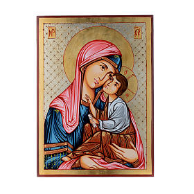 Rumanian hand-painted icons: Romanian icon Virgin Hodegetria with Child 40x30 cm