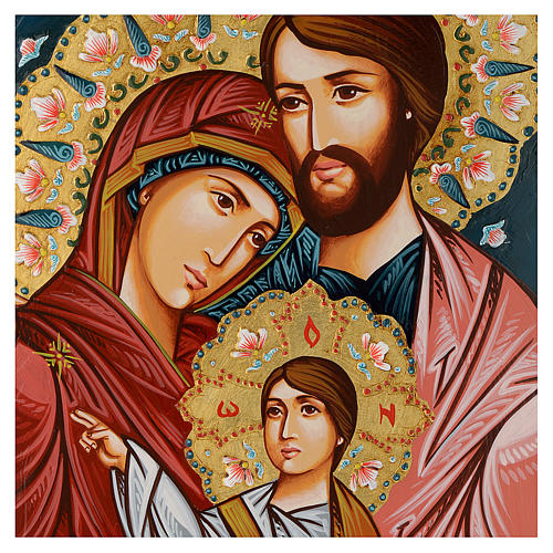 Icona Sacra Fam. dipinta a mano 2
