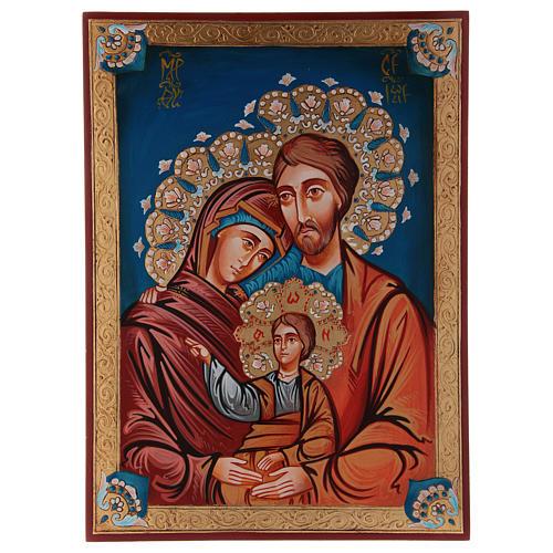Icona Sacra Fam. dipinta a mano 1