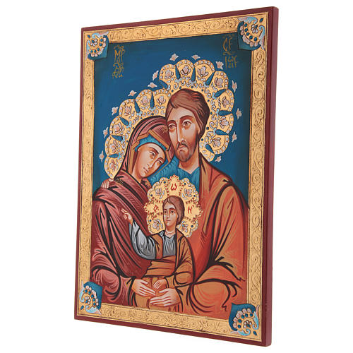 Icona Sacra Fam. dipinta a mano 3
