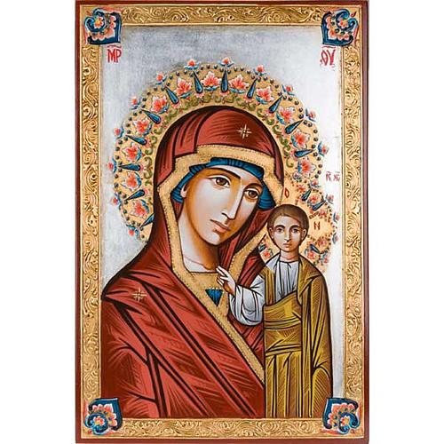 Icona Vergine di Kazan dipinta a mano 40x60 cm 1