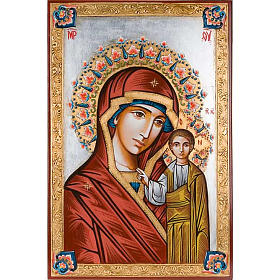 Rumanian hand-painted icons: Our Lady of Kazan, hand-painted, 40x60cm