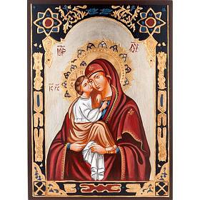 Icona Vergine del Don decorata sfondo oro s1