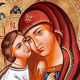 Icona Vergine del Don decorata sfondo oro s2