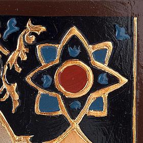 Icona Vergine del Don decorata sfondo oro s3