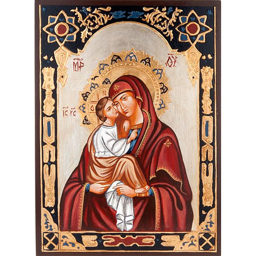 Icona Vergine del Don decorata sfondo oro 1