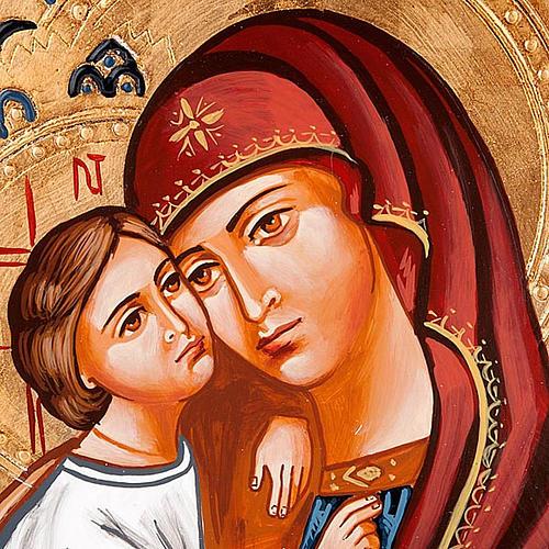 Icona Vergine del Don decorata sfondo oro 2