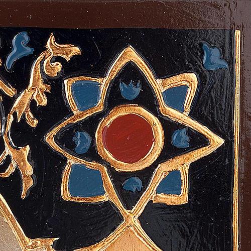 Icona Vergine del Don decorata sfondo oro 3