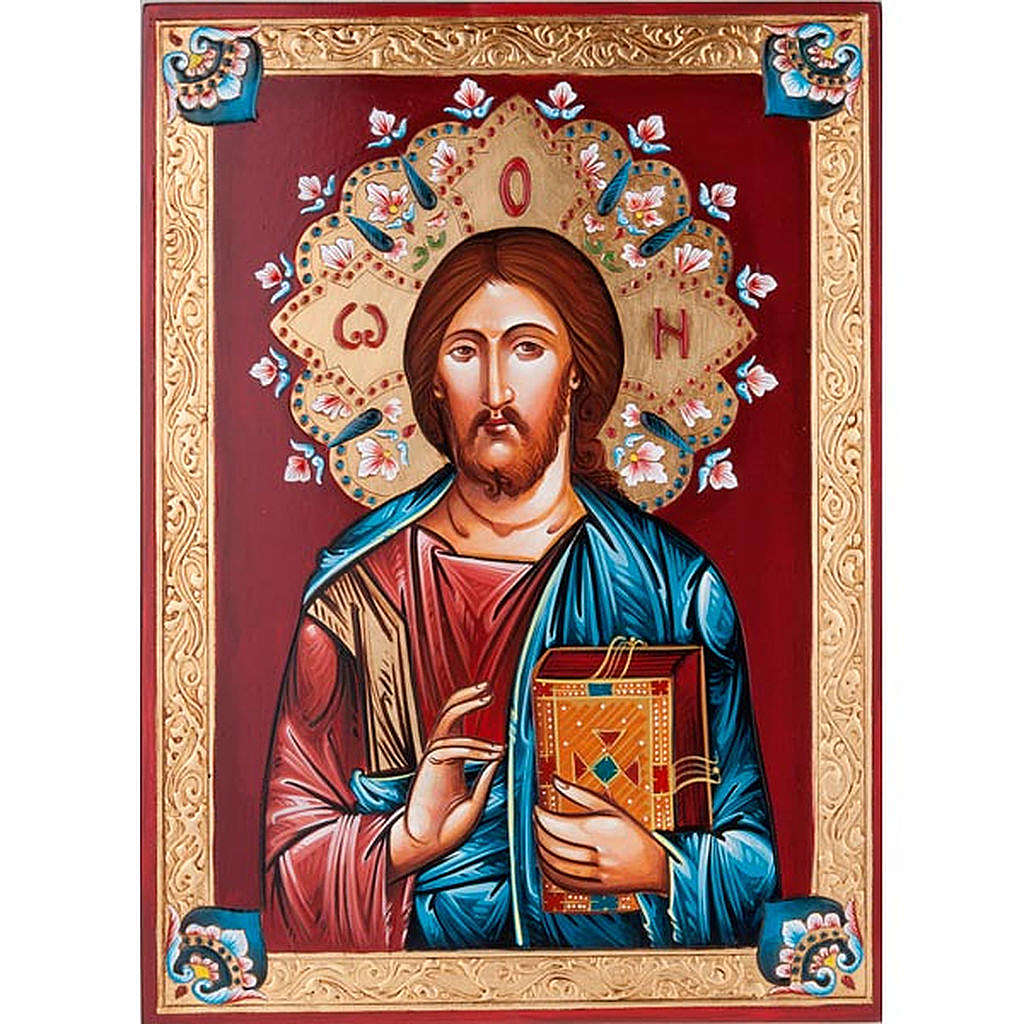 Icona dipinta a mano Pantocratore 4