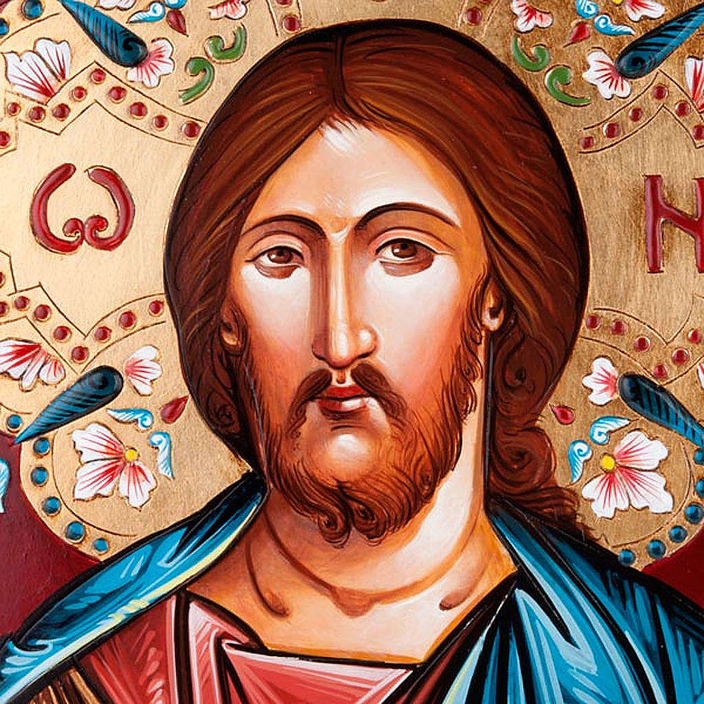 Christ the Pantocrator icon, hand-painted 4