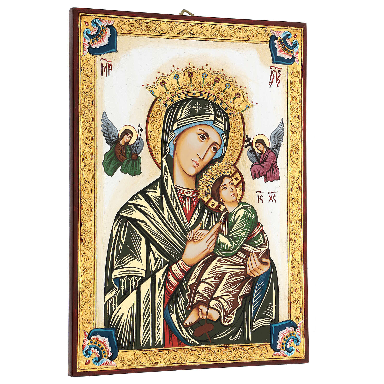 Our Lady of perpetual help icon with polychrome decorations 4
