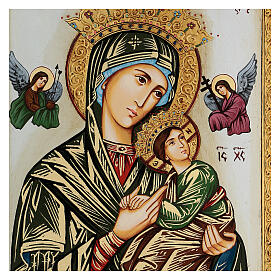 Our Lady of perpetual help icon with polychrome decorations s2