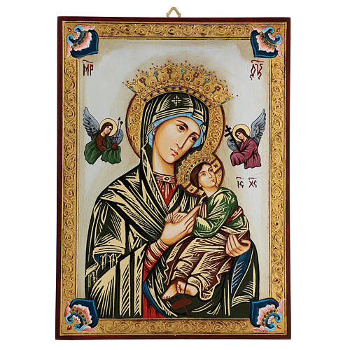 Our Lady of perpetual help icon with polychrome decorations 1