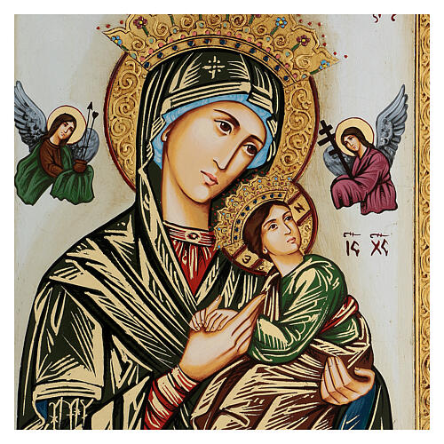 Our Lady of perpetual help icon with polychrome decorations 2