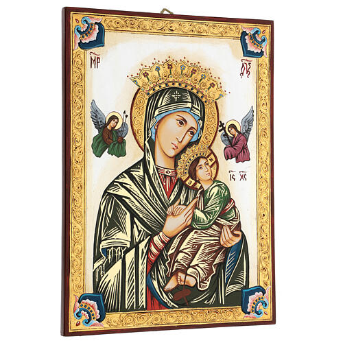Our Lady of perpetual help icon with polychrome decorations 3