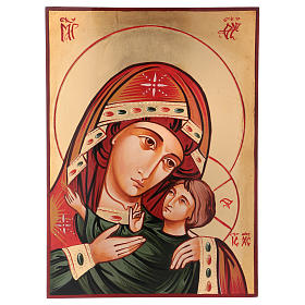 Rumanian hand-painted icons: Our Lady icon by Kasperov, Romania