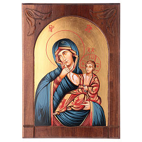 Rumanian hand-painted icons: Mother of God icon, joy and relief, Romania