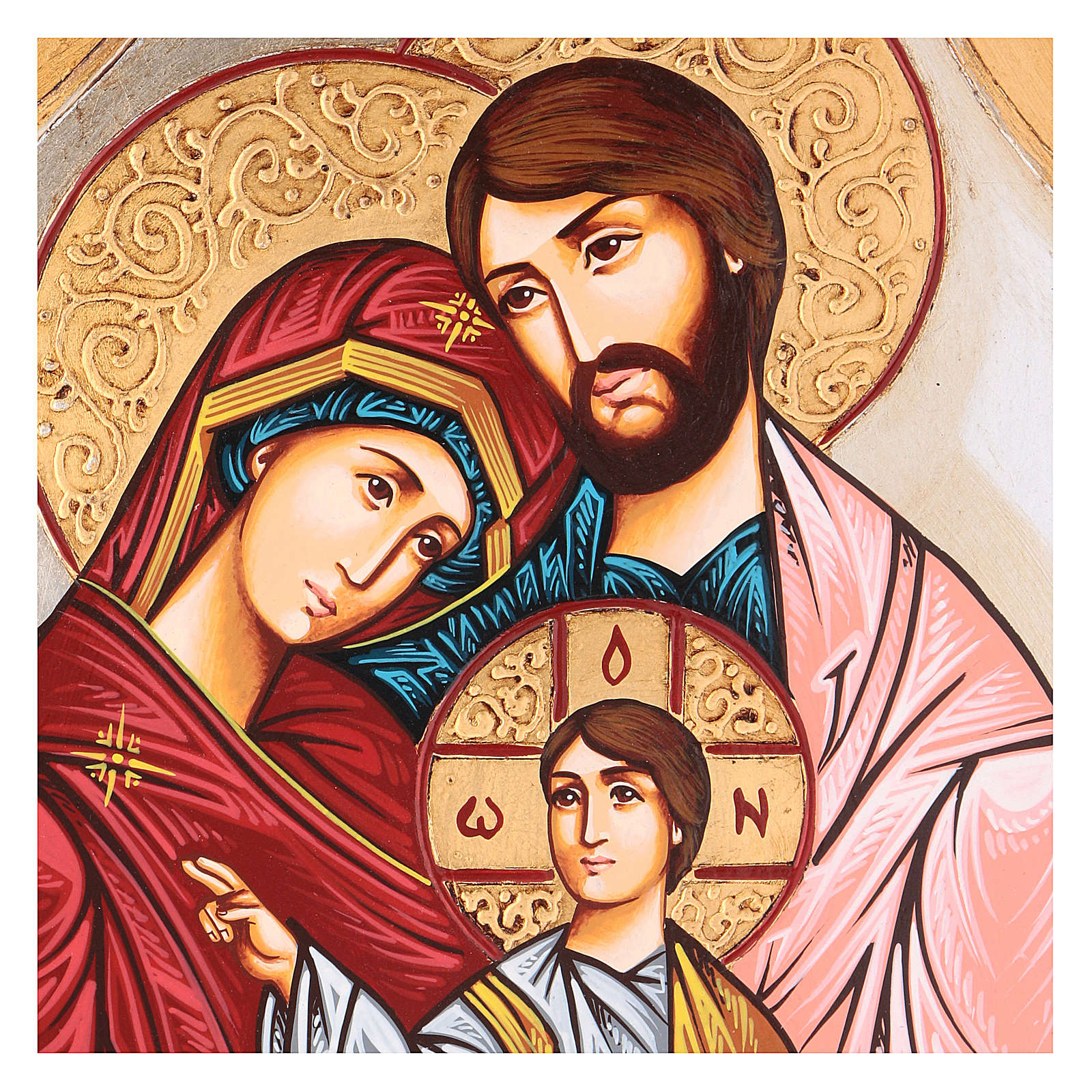 Icône sainte famille Roumanie décor multicolore 4
