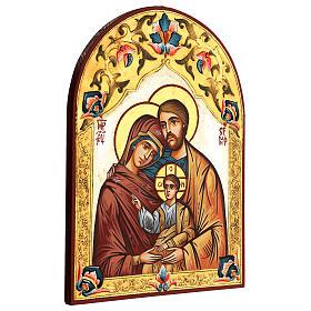 Icona Sacra Famiglia Romania decoro policromo s3