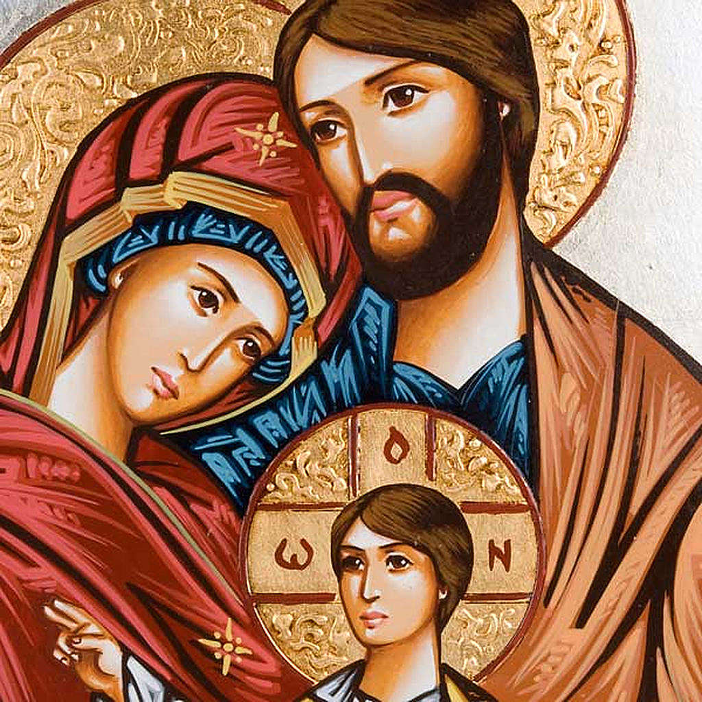 Holy Family icon with polychrome decoration, Romania 4