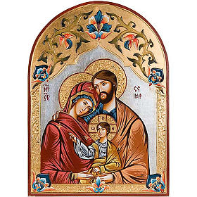 Holy Family icon with polychrome decoration, Romania s1