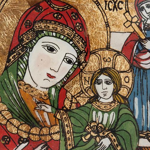 Icona dipinta su vetro Madre di Dio Odighitria 2