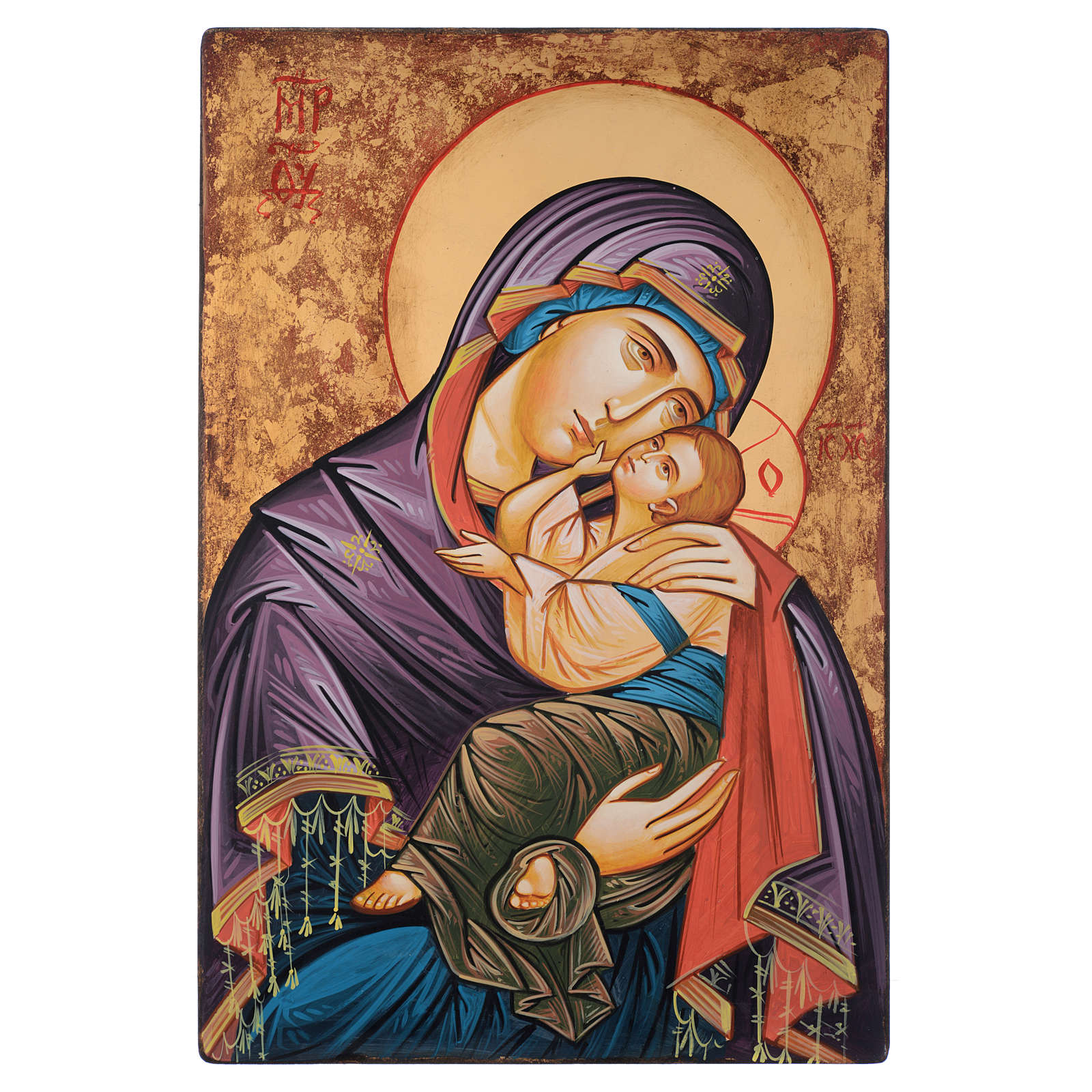 Icona Romania dipinta a mano Glicofilussa 60x40 cm 4