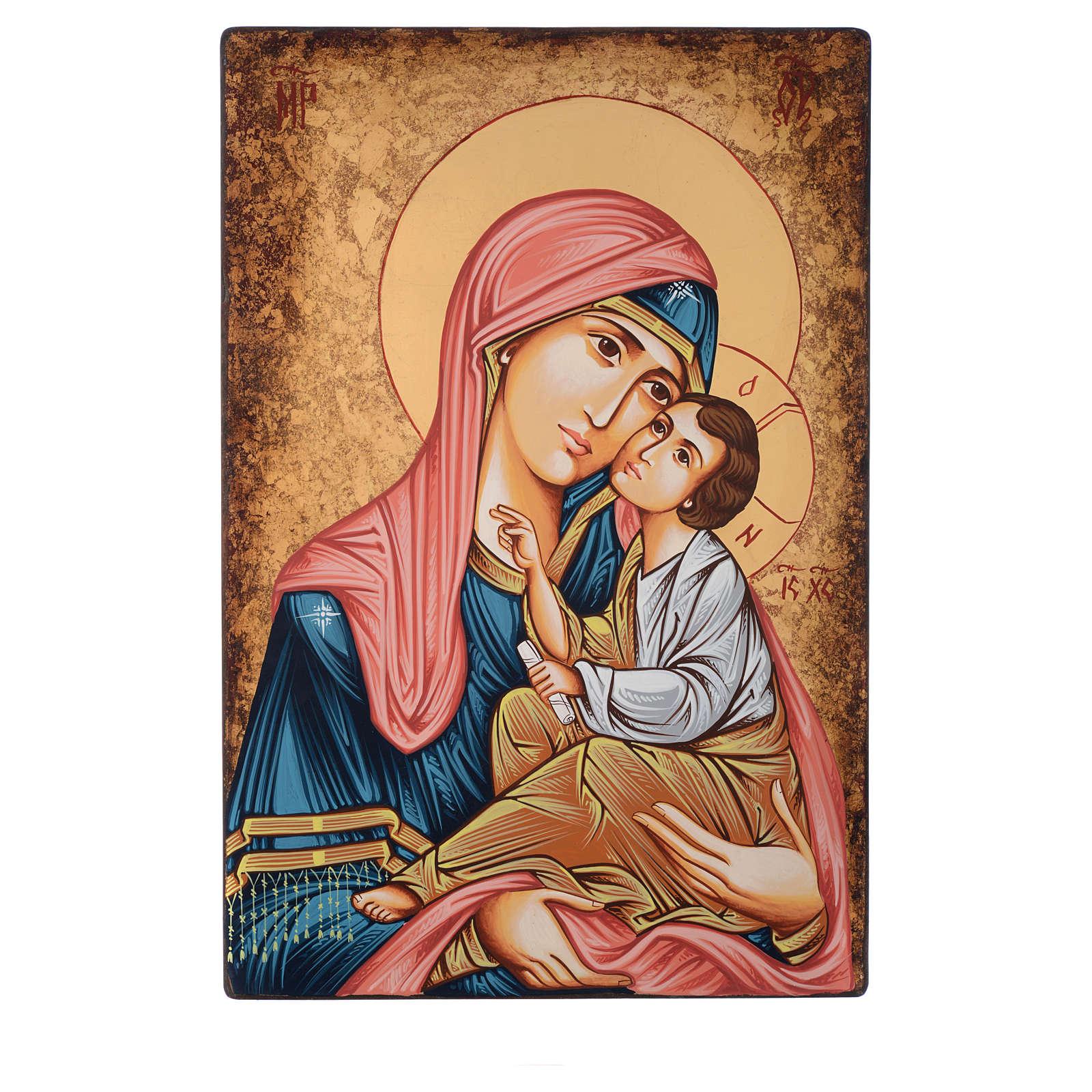Icona Romania Vergine Odigitria anticata 60x40 cm 4