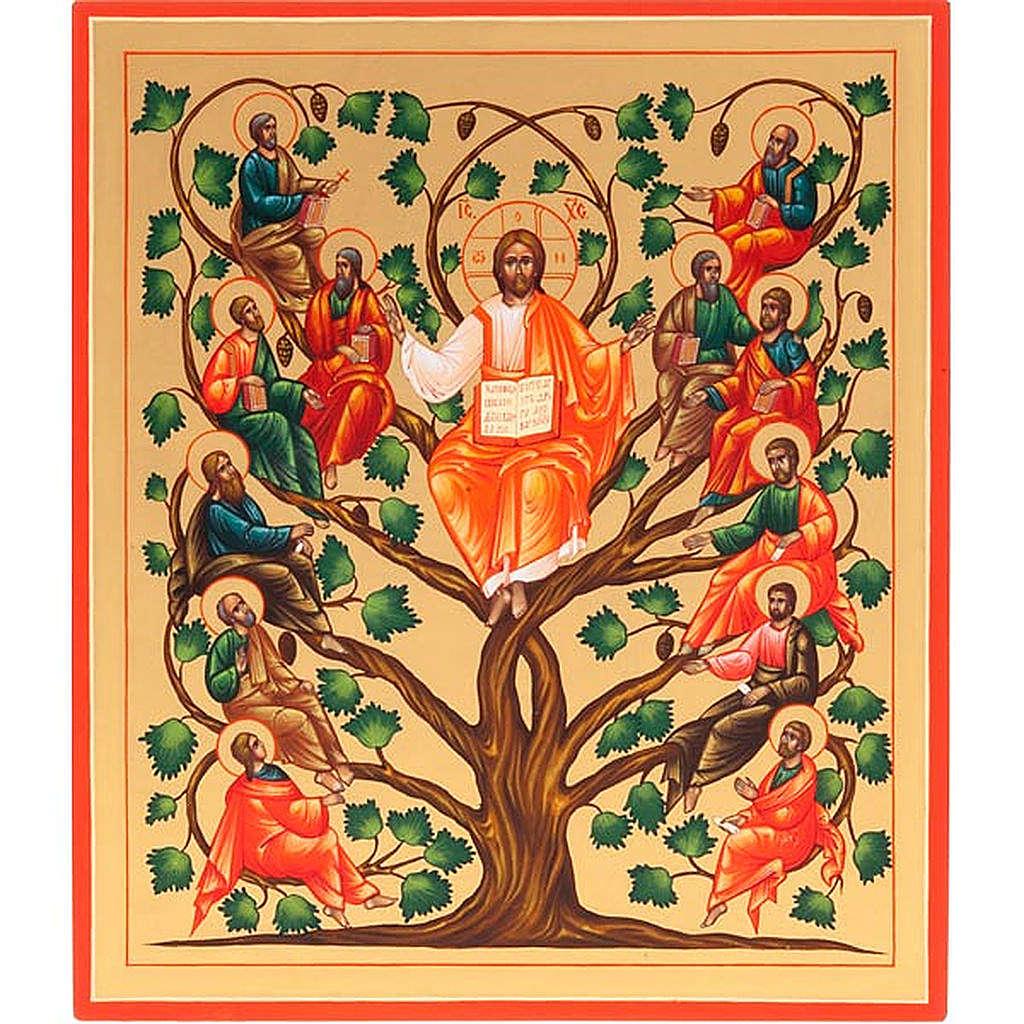 Icona russa Gesù Vera Vite 22x27  dipinta a mano 4