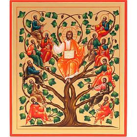 Icona russa Gesù Vera Vite 22x27  dipinta a mano s1