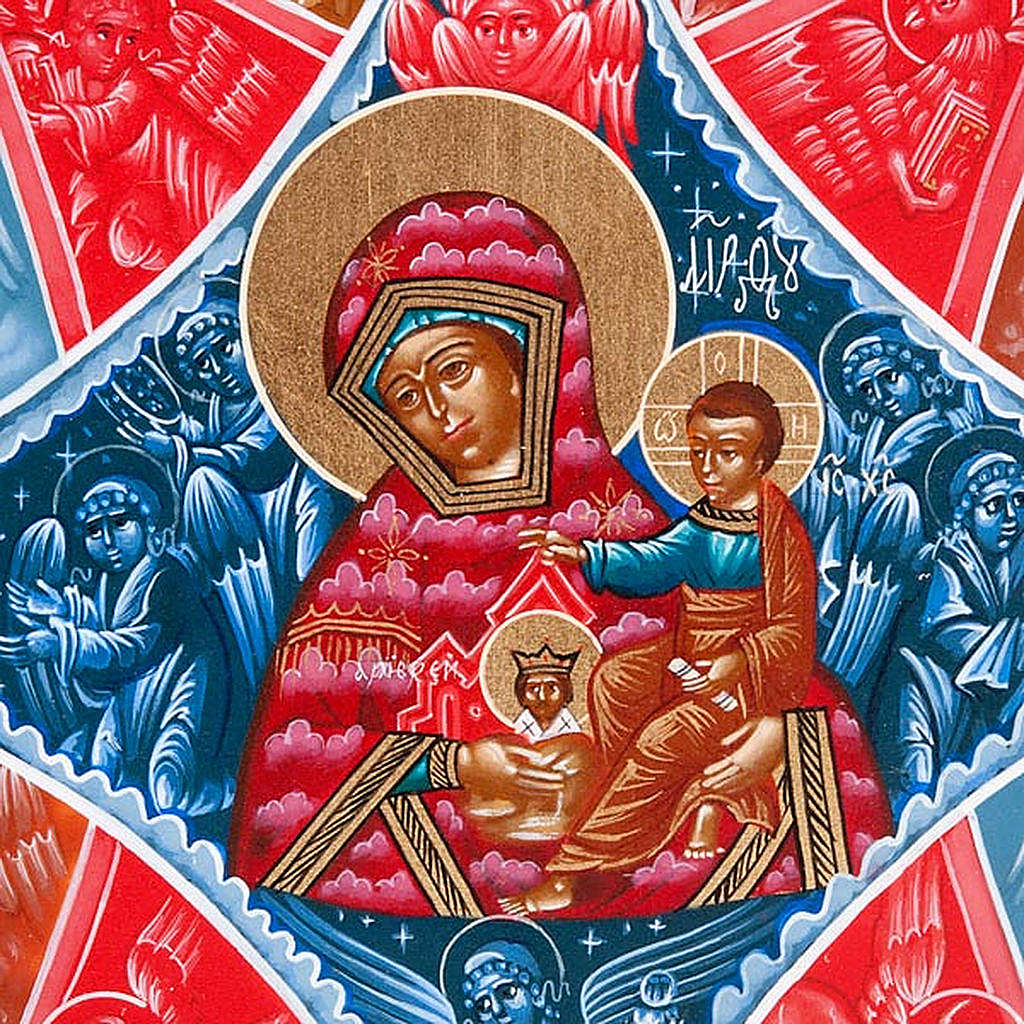Hand-painted Russian icon, Burning Thornbush 22x27cm 4