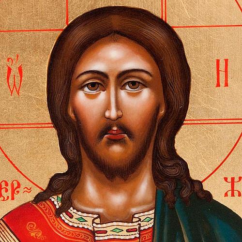 Icona sacra Cristo Pantocratore Russia 22x27 cm 3