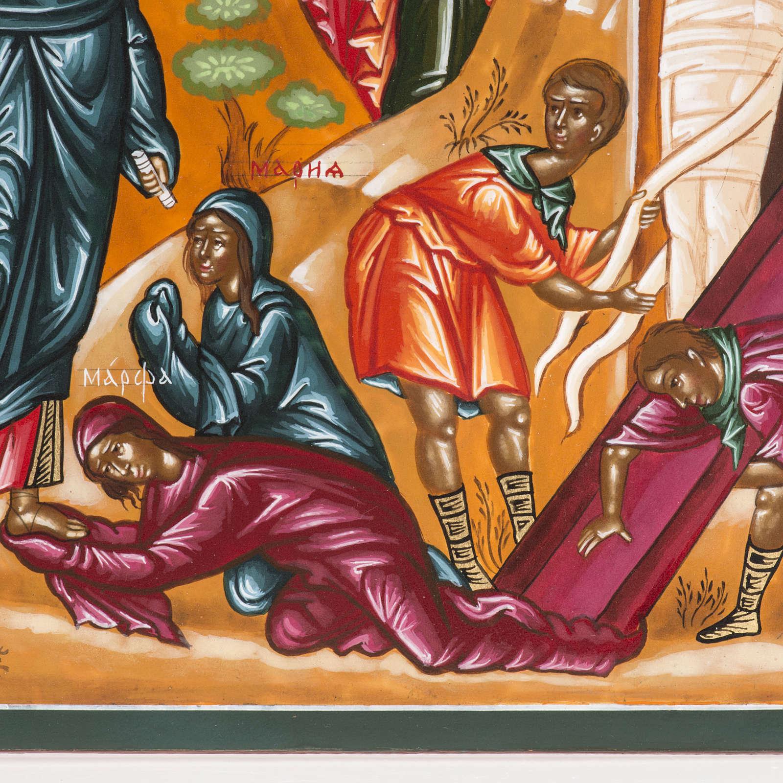 Icona Russa Resurrezione di Lazzaro 22x27 cm 4