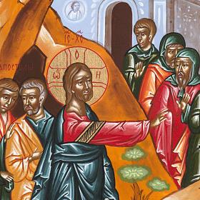 Icona Russa Resurrezione di Lazzaro 22x27 cm s2