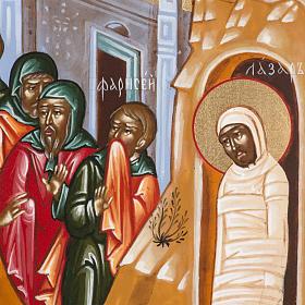 Icona Russa Resurrezione di Lazzaro 22x27 cm s4