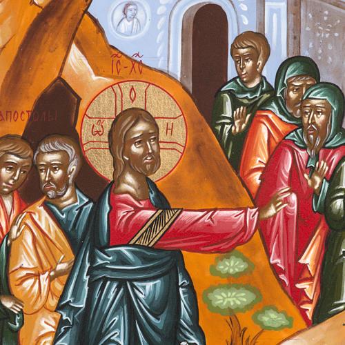 Icona Russa Resurrezione di Lazzaro 22x27 cm 2