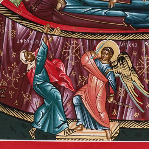 Icona sacra russa Dormizione di Maria cm 22x27 2