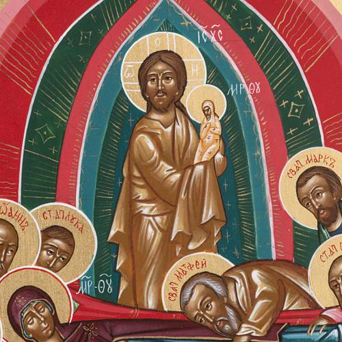Icona sacra russa Dormizione di Maria cm 22x27 3