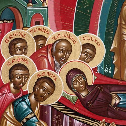 Icona sacra russa Dormizione di Maria cm 22x27 5