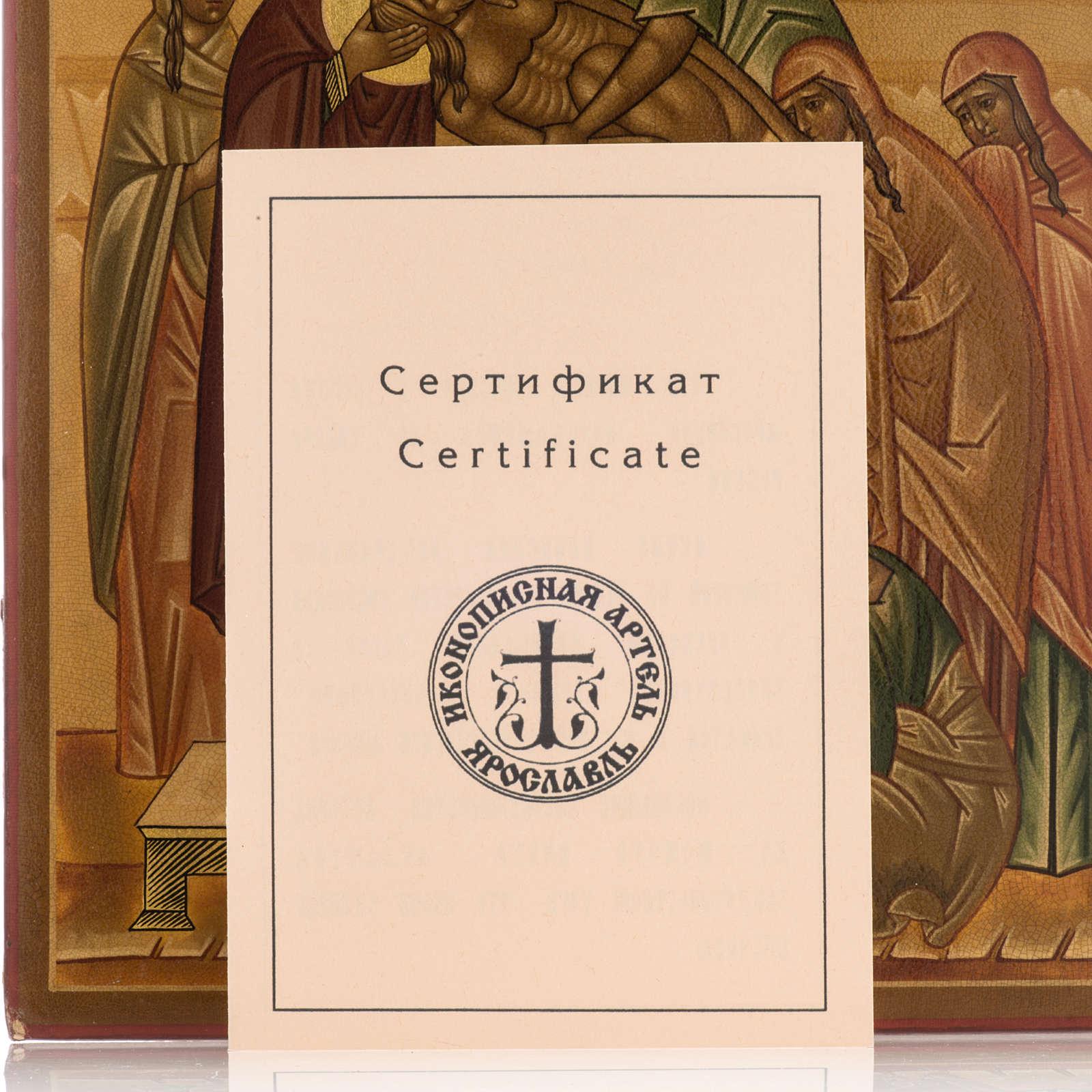 Icona russa Deposizione della croce 22x27 cm 4