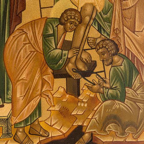 Icona russa Deposizione della croce 22x27 cm 2