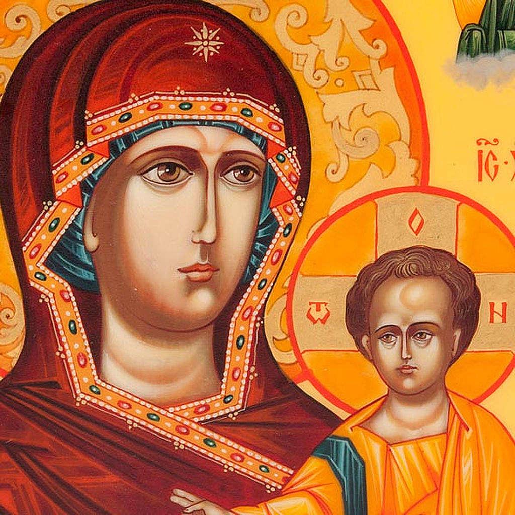 Icona  Odighitria Vreko Fratusa - Russia 22x27 cm 4