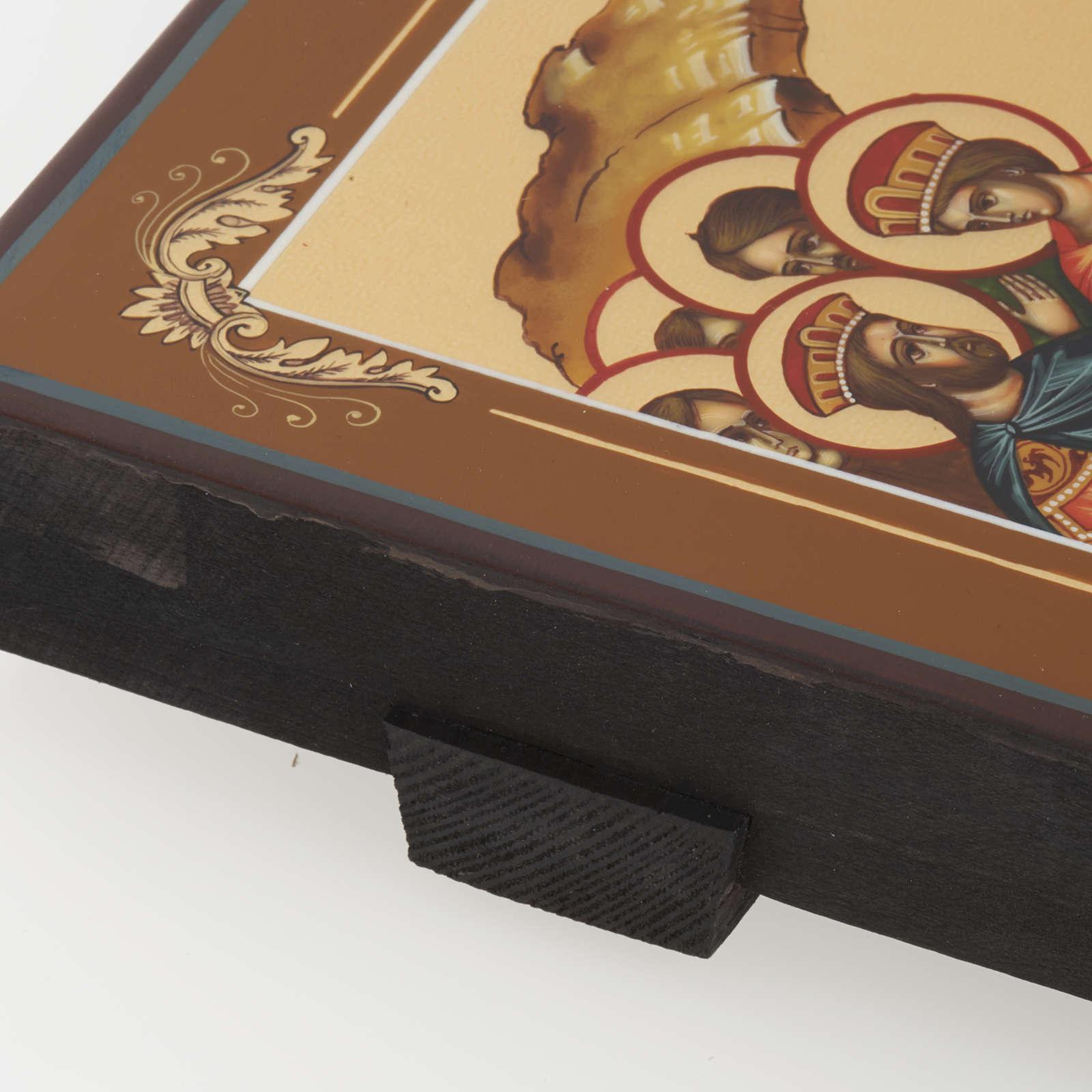 Icona Discesa agli Inferi dipinta a mano Russia 22x27 cm 4
