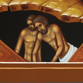 Icona Discesa agli Inferi dipinta a mano Russia 22x27 cm s4