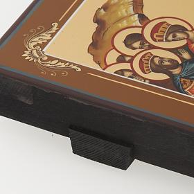 Icona Discesa agli Inferi dipinta a mano Russia 22x27 cm s7