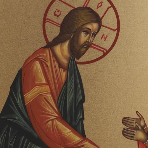 Icona Discesa agli Inferi dipinta a mano Russia 22x27 cm 2