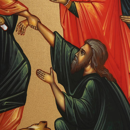 Icona Discesa agli Inferi dipinta a mano Russia 22x27 cm 3